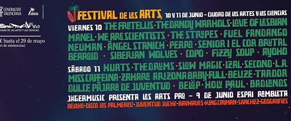 El Festival de les arts cierra el cartel